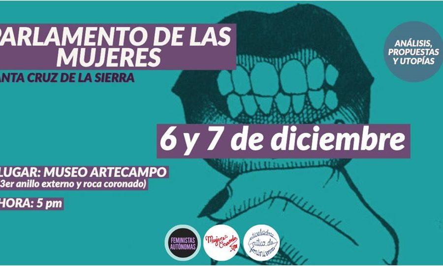 Santa Cruz: El Parlamento de las Mujeres continúa